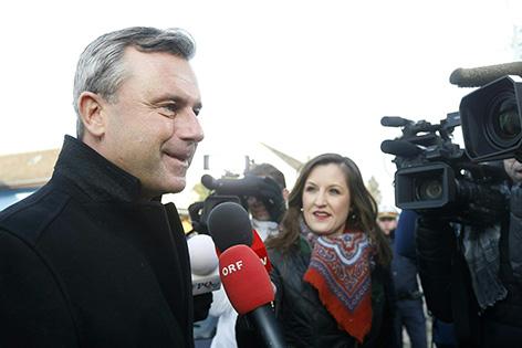 FPÖ-Präsidentschaftskandidat Norbert Hofer im Rahmen der Bundespräsidenten Stichwahl-Wiederholung am Sonntag, 4. Dezember 2016, in Pinkafeld