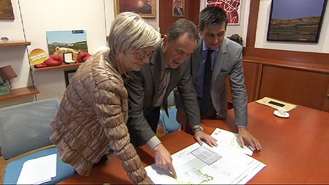 Ingrid Salamon, Helmut Bieler und Christian Illedits