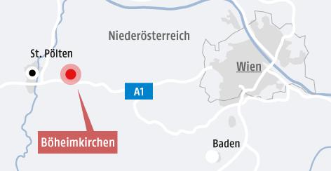 Karte von Böheimkirchen und Umgebung