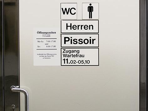 WC-Anlage in Wiener U-Bahnstation