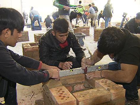 Bauwirtschaft Casting Flüchtlinge