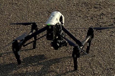 Drohne am Boden