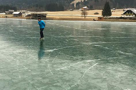 Weißensee Eislauf freigegeben