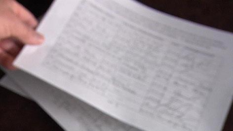 Unterschriftenliste