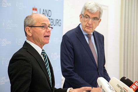 Finanzreferent Christian Stöckl und Finanzabteilungsleiter Herbert Prucher