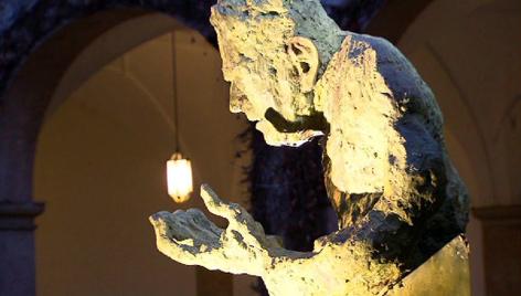 Wallnöfer-Skulptur im  Volkskunstmuseum