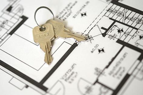 Wohnungsplan mit Schlüssel