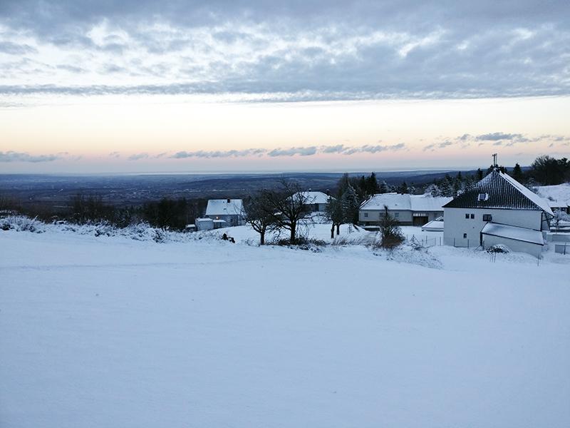 Winterliche Rosalia Schnee