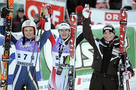 Semmering 2008 Riesentorlauf Manuela Mölgg Kathrin Zettel Lara Gut