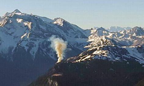 Waldbrand im Gebirge