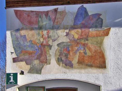 Fresken auf Gemeindehaus