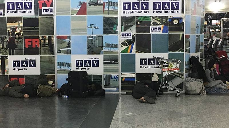 Flughafen Istanbul Schneechaos