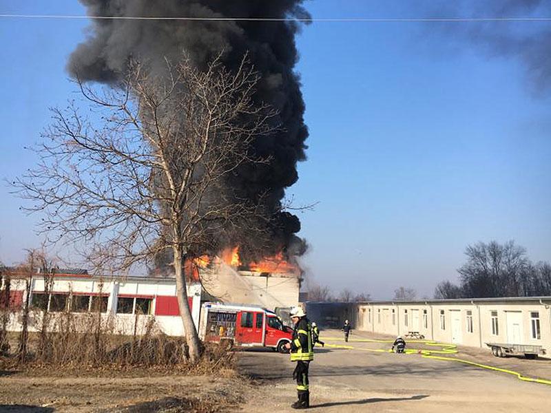Großbrand in Wimpassing