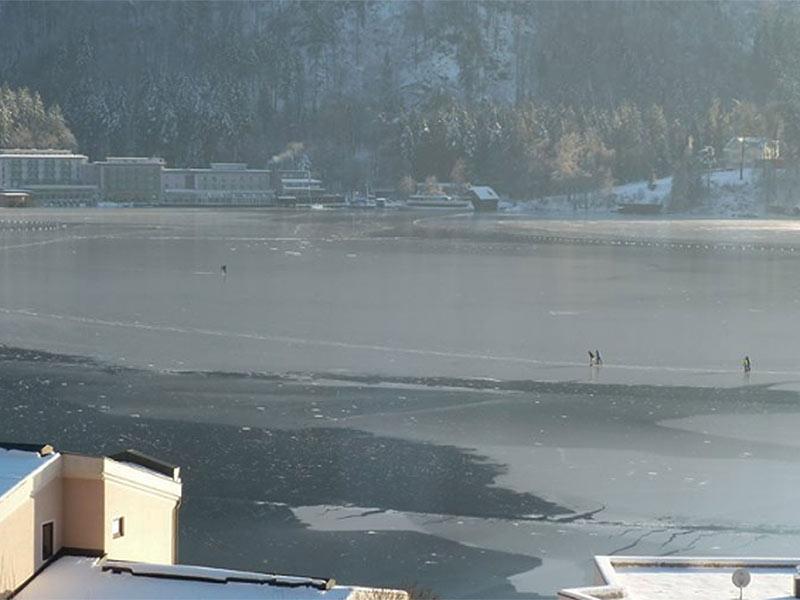 Eislaufen Ossiacher See Gefahr