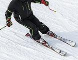Anonymer Skifahrer