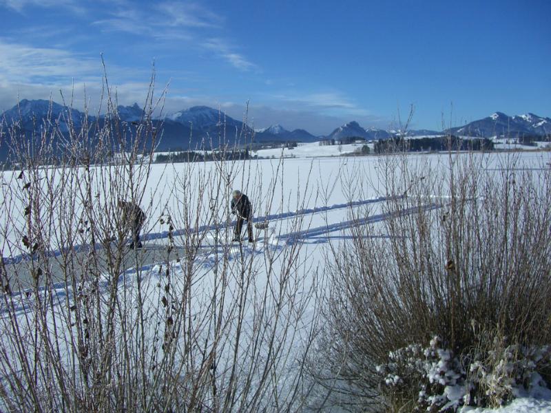 Eisbahn auf See