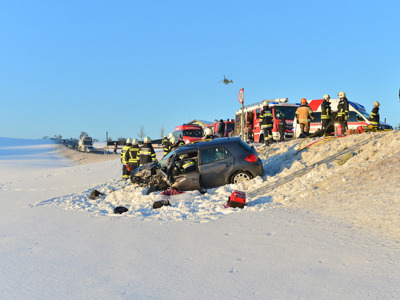 Unfall bei Vierzehn, Bezirk Freistadt