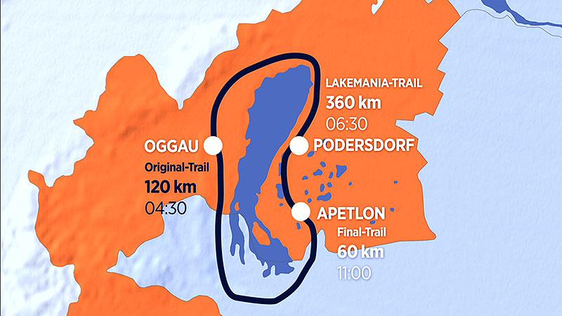 """Grafik vom Kurs der """"Burgenland Extrem Tour"""""""