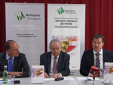 Zbornik politiko Karel Hren Karl Anderwald Peter Filzmaier 2016 politični politolog