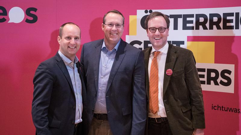 Matthias Strolz, Markus Moser und Dominik Oberhofer
