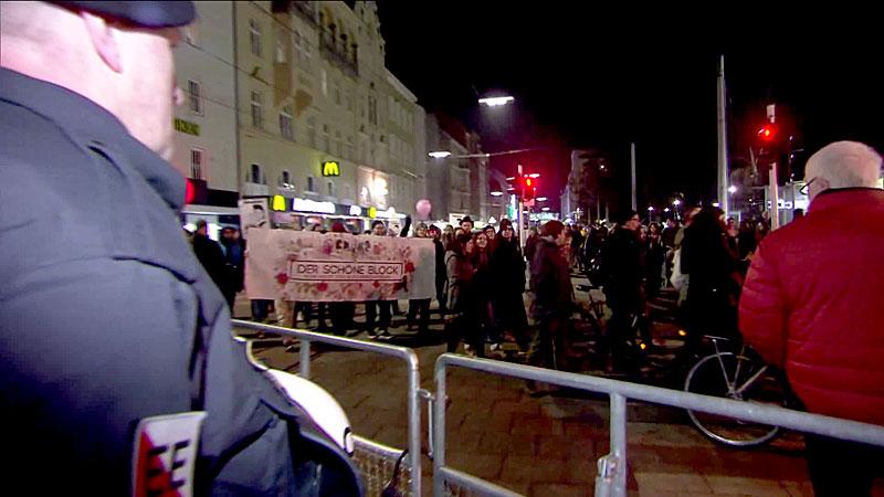 Demo gegen Burschenbundball