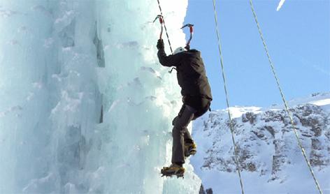 Eisklettern Wasserfallklettern Kolm Saigurn Rauris