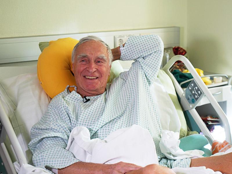 Gunnar Prokop im Spital