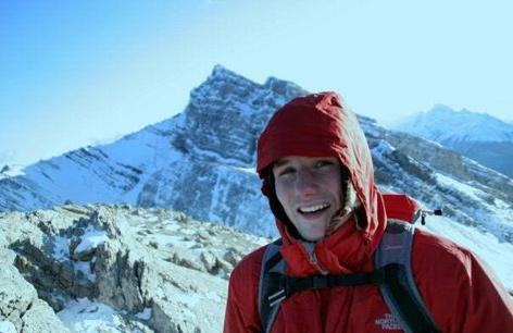 William Barton im Gebirge