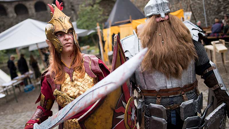 Fantasy Convention Solingen Elben Hobbits.  Achtung: Credit nicht als Mouseover gestattet!