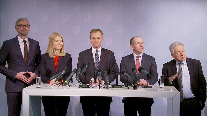 Michael Strugl, Christine Haberlander, Thomas Stelzer, Max Hiegelsberger, Josef Pühringer