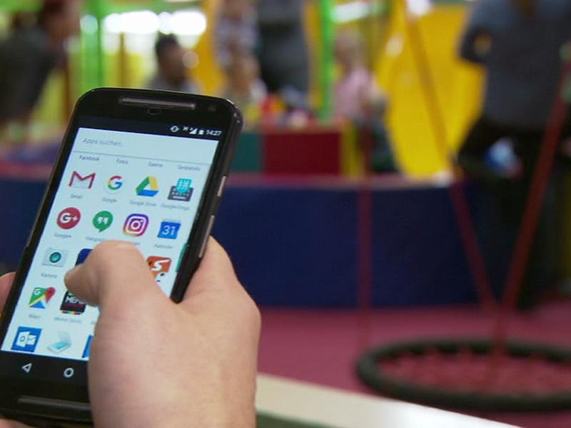 Handys am Spielplatz