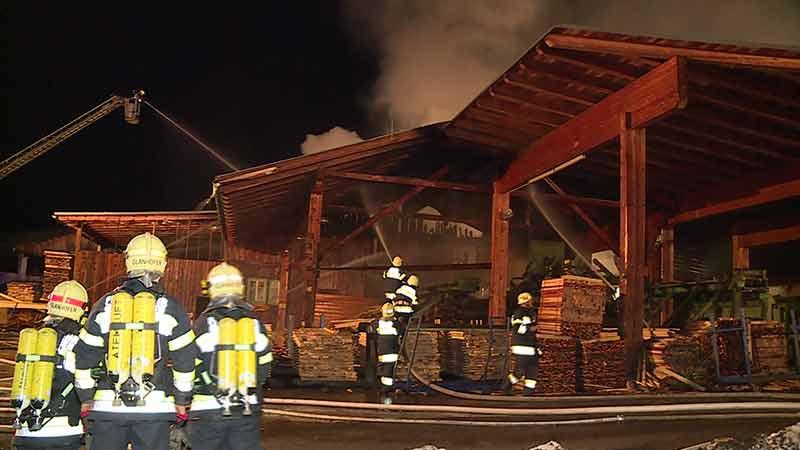 Brand Sägewerk Pichlern