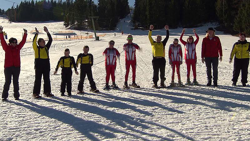 Teilnehmer der Special Olympics beim Training
