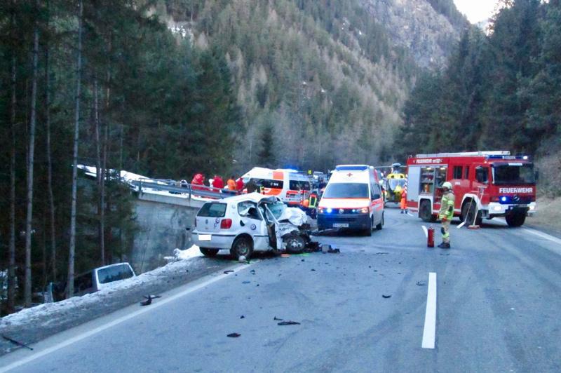Verkehrsunfall auf Ötztalstraße