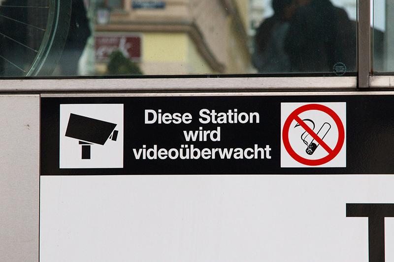 Videoüberwachung bei den Wiener Linien