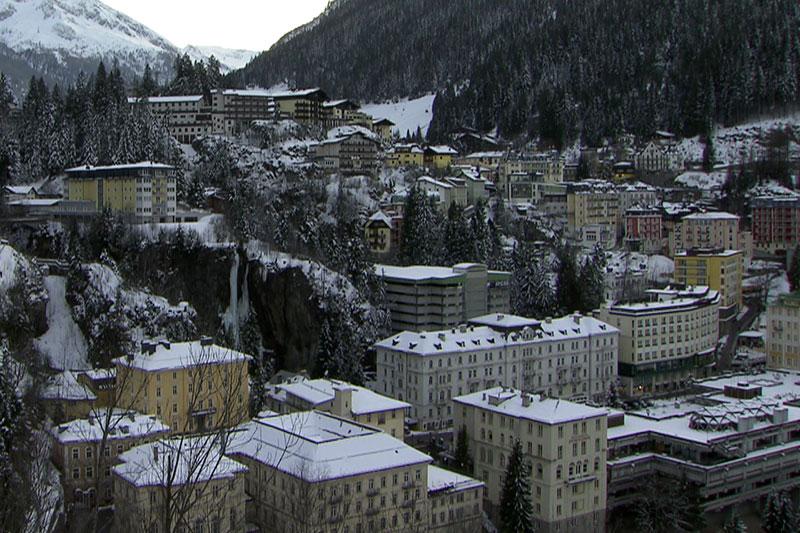 Zentrum von Bad Gastein im Winter