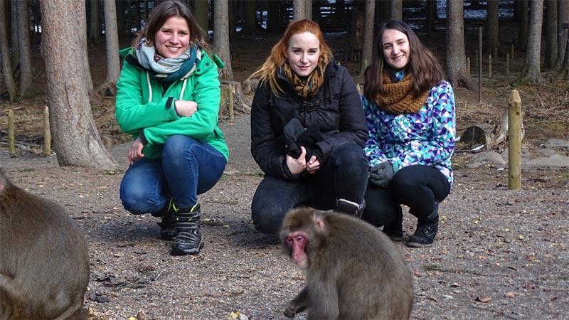 Affenberger Studentinnen Forschung