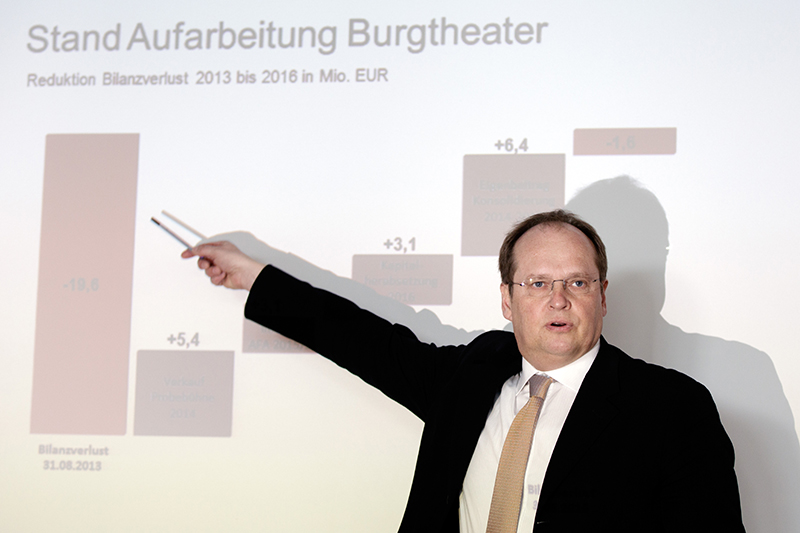"Bundestheater-Holding-Geschäftsführer Christian Kircher am Montag, 27. Februar 2017, während einer PK der Bundestheater Holding zum Thema ""Jahresbericht 2015/2016"" in Wien"