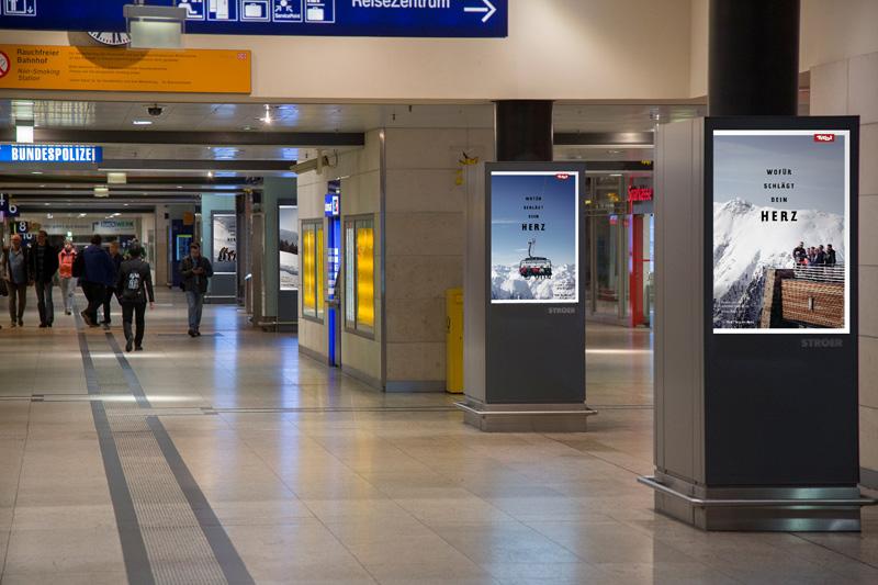 Werbung der Tirol Werbung in Halle