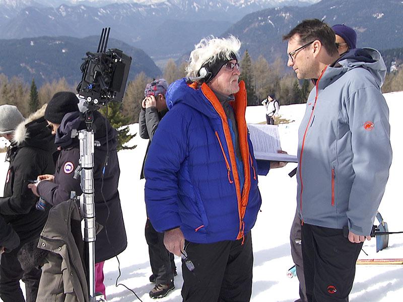 Dreharbeiten zum Film Erik. Weltmeisterin