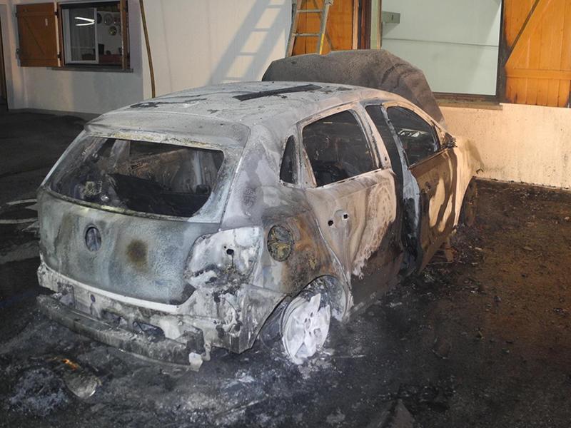 Fahrzeugbrände Brandstiftung Hard Höchst