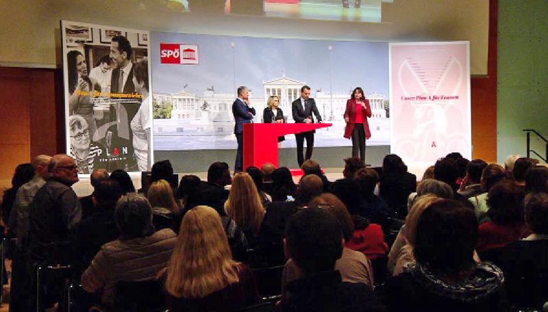 SPÖ Parteiveranstaltung im Congress