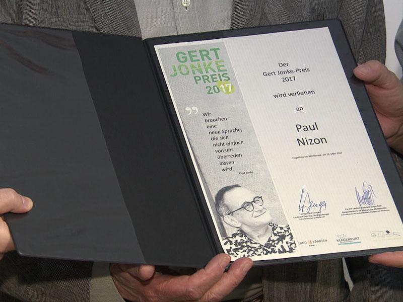 Paul Nizon erhält Gert Jonke Preis