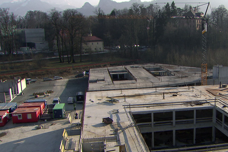 Baustelle des Wissensparks im Gewerbegebiet in Puch Urstein