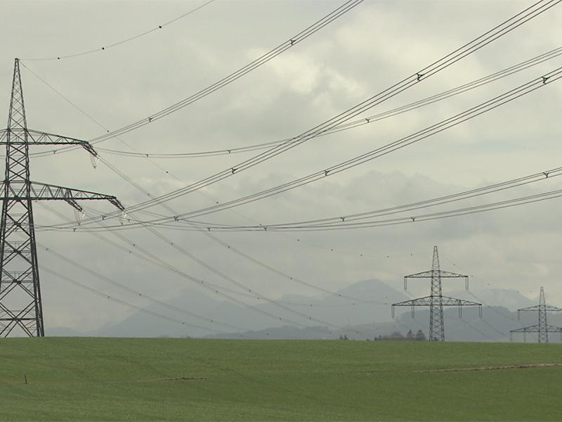 380 kV-Starkstromleitung