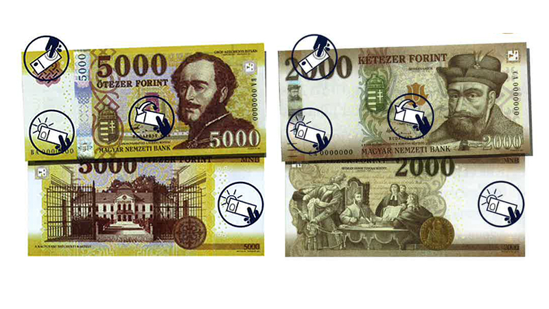 Neue Forint-Scheine in Ungarn