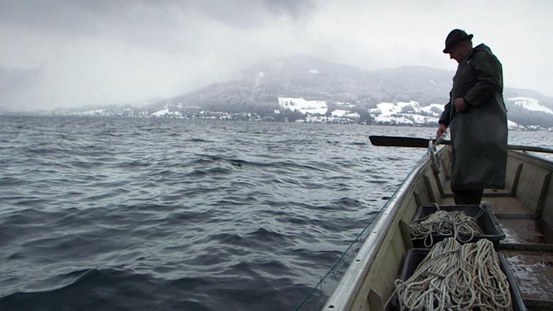 Für Josef Scheichl gibt es kein schlechtes Wetter – er ist Fischer am Attersee