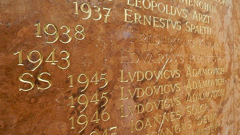 NS Rektoren Uni Wien Tafel Gold heraus gekratzt