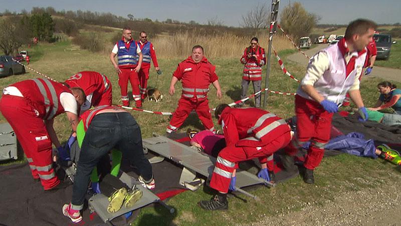 Rot Kreuz-Übung Marzer Kogel