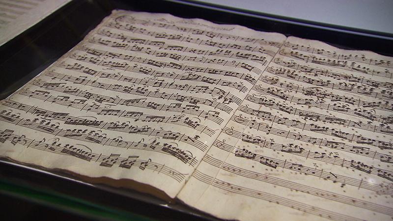 Handabschrift von Haydns Violinkonzert